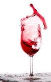 Παφλασμός κόκκινου κρασιού Στοκ Φωτογραφίες