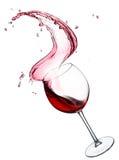 Παφλασμός κόκκινου κρασιού Στοκ Εικόνες