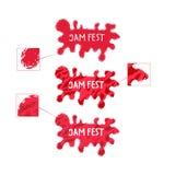 Παφλασμός μαρμελάδας Υγρό στοιχείο λογότυπων Ύφος Logotype Στοκ Εικόνες