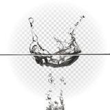 Παφλασμός νερού, διανυσματική απεικόνιση ελεύθερη απεικόνιση δικαιώματος