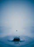 Παφλασμός νερού με την πτώση, κύματα κίνησης νερού υγρά Στοκ Εικόνα