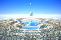 Παφλασμός νερού στις πέτρες χαλικιών Στοκ Εικόνες