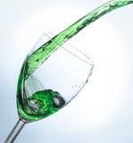 Παφλασμός νερού στο γυαλί ΙΙ στοκ εικόνα