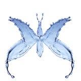 Παφλασμός νερού υπό μορφή πεταλούδων Στοκ Φωτογραφίες