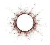 Παφλασμός σκονών καφέ Στοκ φωτογραφία με δικαίωμα ελεύθερης χρήσης