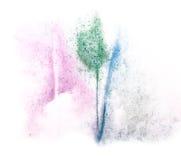 Παφλασμός σταγόνων χρωμάτων μελανιού watercolor τέχνης watercolour Στοκ φωτογραφία με δικαίωμα ελεύθερης χρήσης