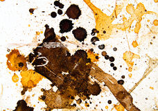Παφλασμός του χρώματος στον τοίχο Στοκ εικόνα με δικαίωμα ελεύθερης χρήσης