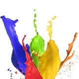 παφλασμός χρωμάτων Στοκ Φωτογραφίες