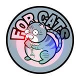 Παχιά γκρίζα τιγρέ γάτα ελεύθερη απεικόνιση δικαιώματος