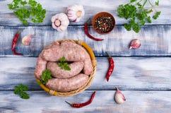 Παχιά λουκάνικα κρέατος Στοκ φωτογραφίες με δικαίωμα ελεύθερης χρήσης