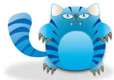 Παχιά μπλε γάτα Στοκ Εικόνες
