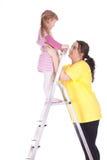 παχιά σκάλα κοριτσιών λίγη &m στοκ φωτογραφία με δικαίωμα ελεύθερης χρήσης