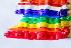 Παχιές δονούμενες ραβδώσεις του χρώματος με τις βούρτσες χρωμάτων Στοκ Εικόνες