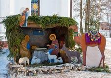 Παχνί Χριστουγέννων. σκηνή nativity Στοκ Εικόνες