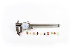Παχυμετρικός διαβήτης με τα φασόλια σε μια γραμμή Στοκ φωτογραφία με δικαίωμα ελεύθερης χρήσης