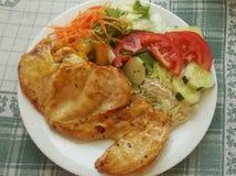 Παχυσαρκία πάλης/υγιές γεύμα Στοκ Εικόνα