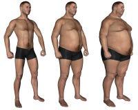 παχυσαρκία Στοκ εικόνα με δικαίωμα ελεύθερης χρήσης