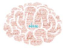 Παχύσαρκο σύννεφο του Word εγκεφάλου διανυσματική απεικόνιση