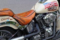 Παχύ αγόρι του Harley Davidson μοτοσικλετών Στοκ Φωτογραφίες