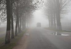 Παχύ σάβανο της ομίχλης στα τέλη του φθινοπώρου Στοκ Εικόνες