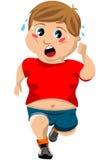 Παχύ τρέξιμο παιδιών απεικόνιση αποθεμάτων