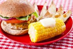 παχύ χαμηλό picnic καλοκαίρι στοκ εικόνα με δικαίωμα ελεύθερης χρήσης