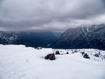 Παχύ χιόνι που καλύπτει τον αερολιμένα Syangboche Στοκ φωτογραφία με δικαίωμα ελεύθερης χρήσης
