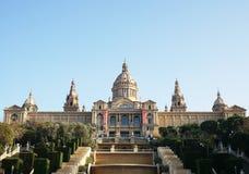 Παλάου Nacional με το μουσείο MNAC στη Βαρκελώνη Στοκ Εικόνες