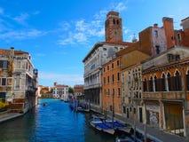 Παλάτια και σπίτια της Βενετίας - της Ιταλίας Στοκ Φωτογραφίες