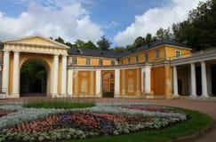 Παλάτι, ένα μπροστινό ναυπηγείο Μουσείο-κτήμα Arkhangelskoye Ρωσία Στοκ φωτογραφία με δικαίωμα ελεύθερης χρήσης