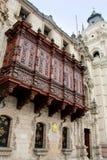 Παλάτι Αρχιεπισκόπου στο δήμαρχο Plaza στη Λίμα, Περού Στοκ Εικόνες