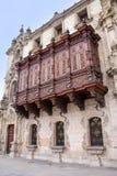 Παλάτι Αρχιεπισκόπου στο δήμαρχο Plaza στη Λίμα, Περού Στοκ φωτογραφία με δικαίωμα ελεύθερης χρήσης