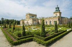 Παλάτι Βαρσοβία Πολωνία Ευρώπη Wilanow Στοκ Εικόνες