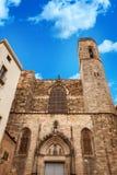Παλάτι βασιλιάδων στη Βαρκελώνη: μεσαιωνικό Παλάου Reial Royal Palace στα καταλανικά Placa del Rei King ` s στην πλατεία Στοκ Εικόνες