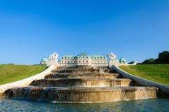 Παλάτι Βιέννη Αυστρία πανοραμικών πυργίσκων Schloss Στοκ εικόνα με δικαίωμα ελεύθερης χρήσης