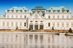 παλάτι Βιέννη πανοραμικών πυργίσκων Στοκ Εικόνα