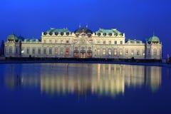 παλάτι Βιέννη πανοραμικών πυργίσκων Στοκ εικόνα με δικαίωμα ελεύθερης χρήσης