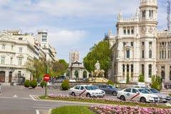 Παλάτι επικοινωνιών από Plaza de Cibeles, Μαδρίτη, Ισπανία Στοκ Εικόνες