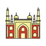 Παλάτι Ινδία του Mysore διανυσματική απεικόνιση