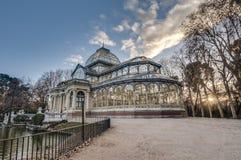 Παλάτι κρυστάλλου στο πάρκο Retiro στη Μαδρίτη, Ισπανία. Στοκ Φωτογραφία