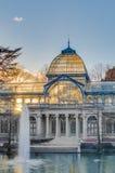 Παλάτι κρυστάλλου στο πάρκο Retiro στη Μαδρίτη, Ισπανία Στοκ εικόνα με δικαίωμα ελεύθερης χρήσης