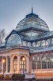 Παλάτι κρυστάλλου στο πάρκο Retiro στη Μαδρίτη, Ισπανία Στοκ Φωτογραφίες