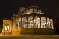 Παλάτι κρυστάλλου τη νύχτα Στοκ εικόνες με δικαίωμα ελεύθερης χρήσης