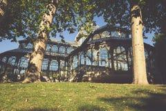 Παλάτι κρυστάλλου (Palacio de cristal) στο πάρκο Retiro, Μαδρίτη, Ισπανία Στοκ εικόνα με δικαίωμα ελεύθερης χρήσης
