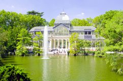 Παλάτι κρυστάλλου (Palacio de cristal) στο πάρκο Retiro, Μαδρίτη Στοκ Φωτογραφία