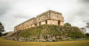 Παλάτι κυβερνητών ` s, αρχαία Maya πόλη Uxmal, Yucatan, Μεξικό Στοκ Εικόνες