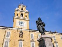 Παλάτι κυβερνητών ` s στην πλατεία Garibaldi, Πάρμα, Ιταλία Στοκ φωτογραφία με δικαίωμα ελεύθερης χρήσης