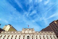 Παλάτι Λα Moneda στη Χιλή στοκ εικόνες με δικαίωμα ελεύθερης χρήσης