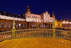 Παλάτι στο ισπανικό τετράγωνο στη Σεβίλλη Ισπανία Στοκ Φωτογραφίες