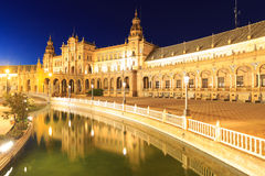 Παλάτι στο ισπανικό τετράγωνο στη Σεβίλλη Ισπανία Στοκ Εικόνες